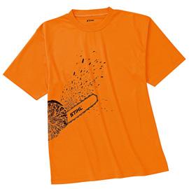 Тениска DYNAMIC Mag Cool, яркооранжева С графичен принт на MS 661 C-M